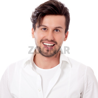 smiling man in casual business outfit isolated