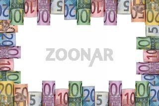 Rahmen aus Euro Scheinen