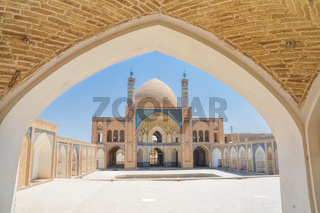 Beautiful Agha Bozog mosque in town of Kashan