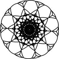Black-outline-of-mandala-isolated-on-white