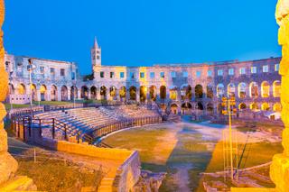 The Roman Amphitheater of Pula, Croatia.