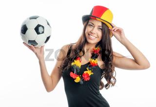 weiblicher fußballfan