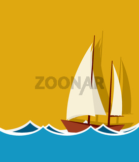 Sailing boat background