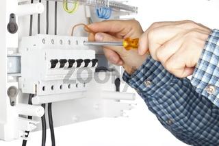 Montage Elektroverteilung