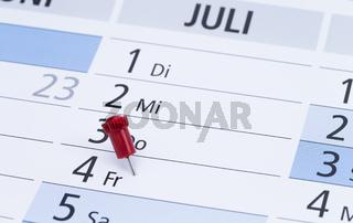 Kalendereintrag 4.July