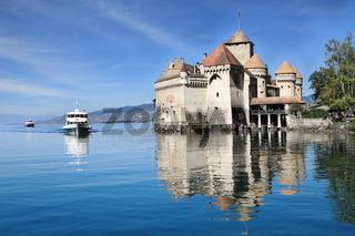The Château de Chillon on Lake Geneva