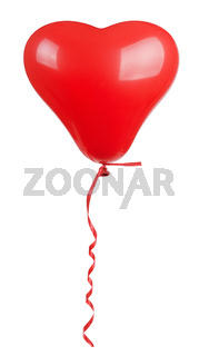 heart shaped red  balloon