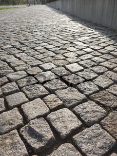 Feines Kopfsteinpflaster aus Granit
