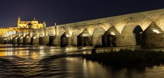 Cordoba Bridge during night
