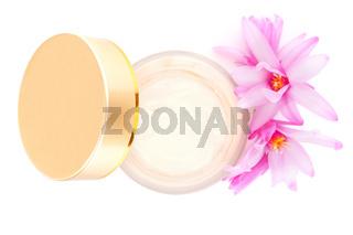 Luxurious cosmetics background.