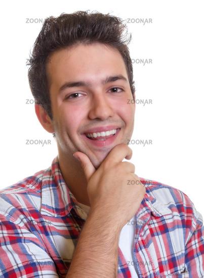 Laughing hispanic guy