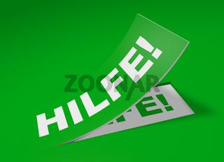 3D Etikett Grün - Hilfe