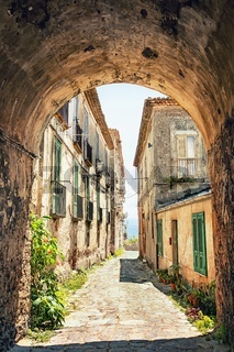 Beautiful old street in Tuscany