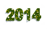 new year 2014 3d logo