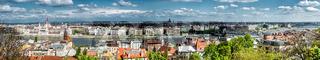 Panoramic view of Budapest city. Hungary