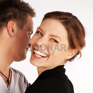 Happy Cheerful Woman Laughing