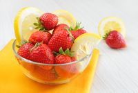 strawberries and lemon