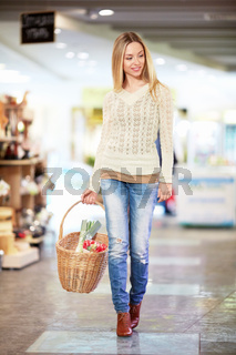 Woman in a store