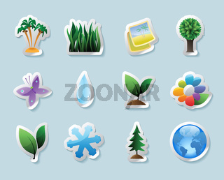 Sticker icons for nature