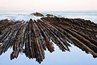 Flysch, Zumaia, Baskenland, Golf von Biskaya, Spanien