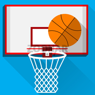 Flat illustration of play basketball