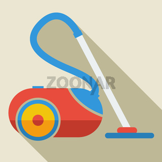 Modern flat design concept icon vacuum cleaner. Vector illustration.