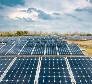 solar panels power plant
