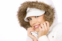 Pretty woman in winter fashion
