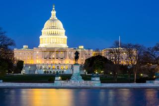 US Capitol Building dusk