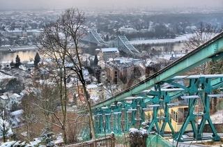 Dresden Blaues Wunder Winter - Dresden Blue Wonder night 01