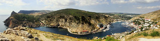 Panoramic view of Balaklava Bay, Crimea