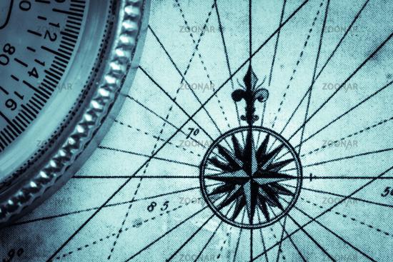 Karte und Kompass - Navigation