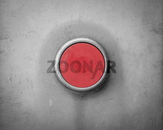 Retro Red Blank Industrial Button