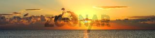 panorama of sunrise over sea