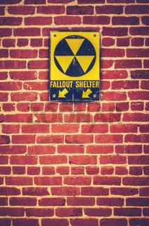 Nuclear Fallout Shelter Sign
