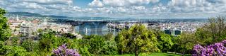 Panoramic view of Budapest city. Budapest, Hungary