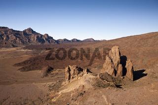 Blick von Roques de Garcia in die Canadas des Teide Nationalpark, Teneriffa