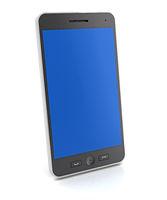 Generic slim smartphone, 3d render
