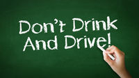 Don't Drink And Drive Chalk Illustration
