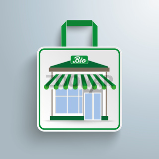 Paper Shopping Bag Bio Shop PiAd