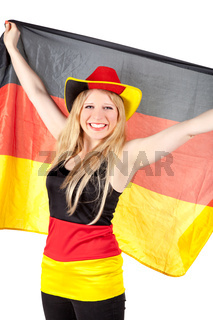beautiful german soccer fan