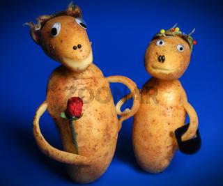 Kartoffelpärchen
