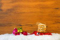 Kekse Schlitten und Geschenke