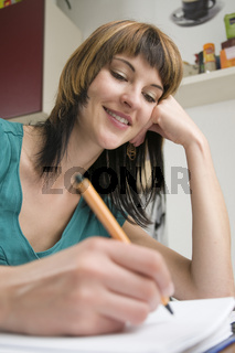 woman writing love letter