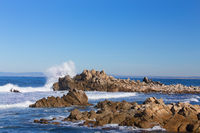 Waves Hitting Rocks in Pacific Grove