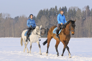 Ausritt im Schnee / Ride out in winter
