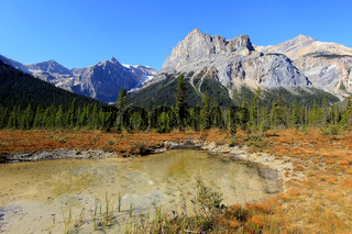 President Range at Emerald Lake, Yoho National Park, Canada