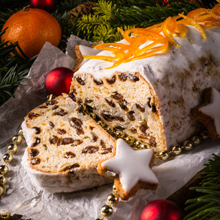 Christmas Stollen with orange julienne