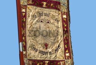 Banner eines Radfahrervereines bei der Bannerweihe des RV Georgia 2011 auf der Insel Reichenau