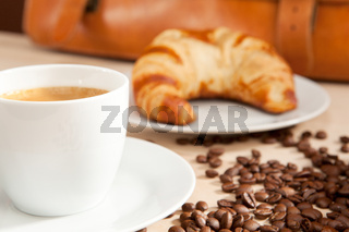 Caffeine containing breakfast for intellectuals